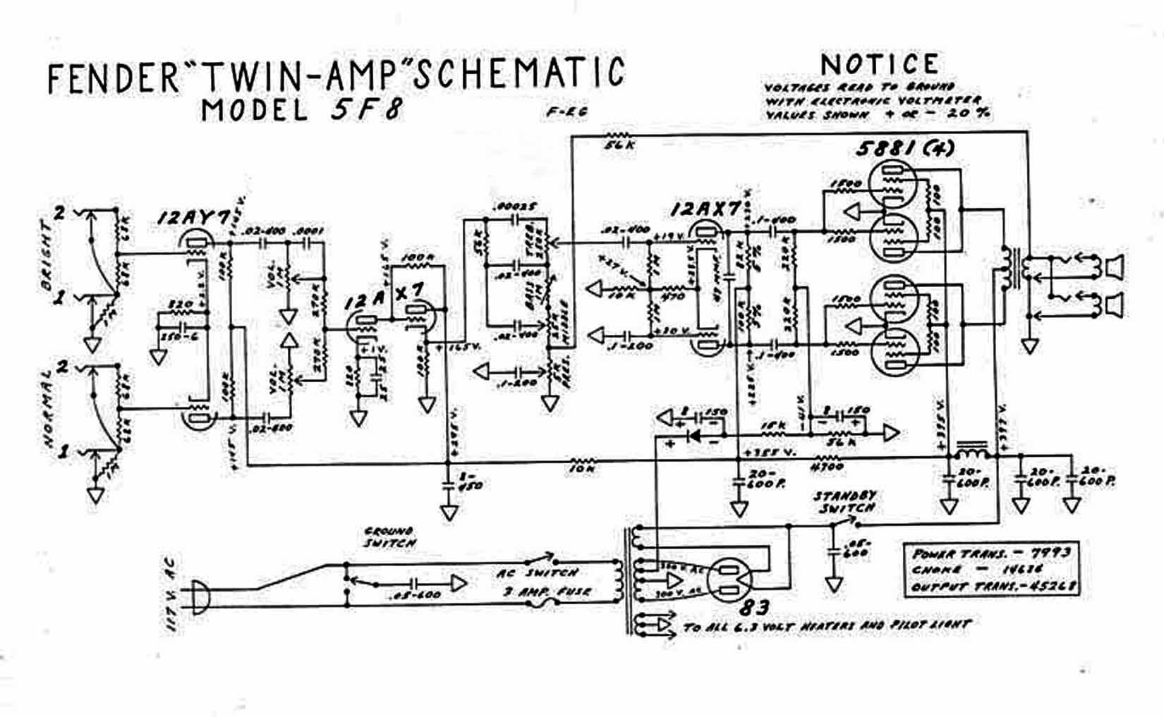 Fender Amp Schematic - Wiring Diagrams Log on